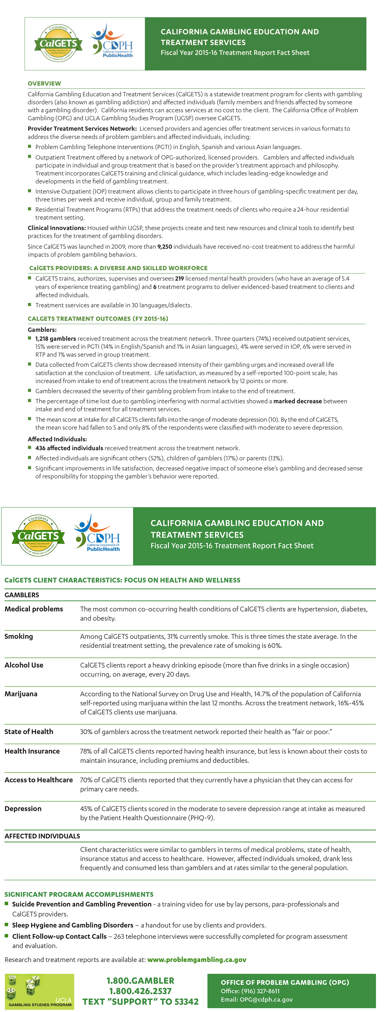 CalGETS Fact Sheet for FY 2015-2016